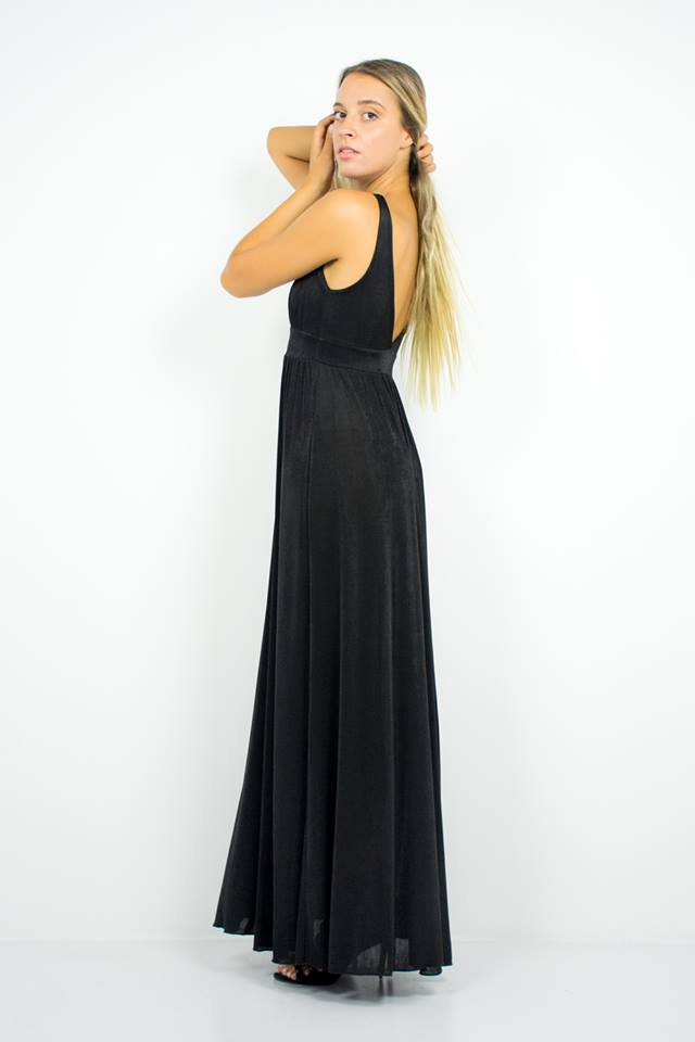 Maxi φόρεμα με άνοιγμα μπροστά - Penelope Style and Accessories in ... 5daa4c44fc1