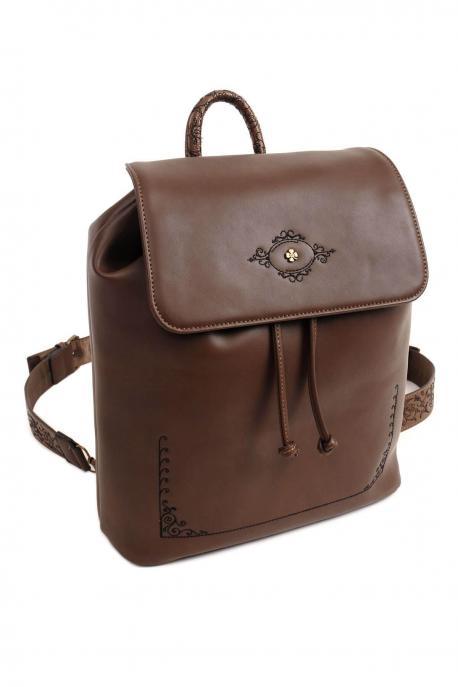 Doca τσάντα πλάτης καφέ